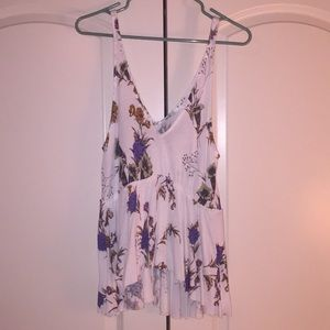 Urban outfitters floral tank